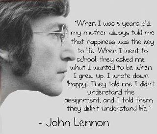 john lennon when i was ..happy