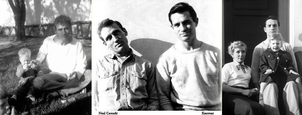 jack kerouac - neal cassady with kids - on the road