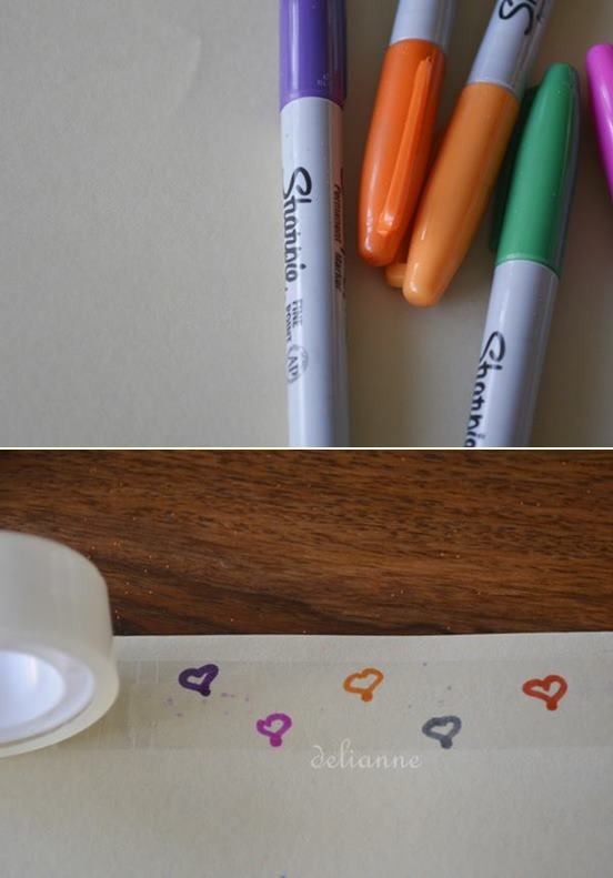 how to make your own washi tape 3 by delianne
